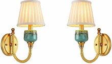 Wandleuchte,Nachttischlampe Französisch Kupfer