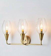 Wandleuchte,Nachttischlampe Vollkupfer Wandlampe