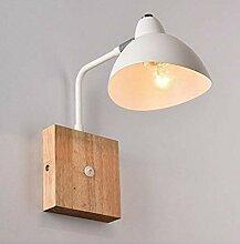 Wandleuchte Nordic Drehbare Lampe Massivholz