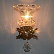 Wandleuchte Persönlichkeit moderne, einfache Crystal Wand lampe Wohnzimmer Schlafzimmer Bett gang Gang Beleuchtung