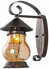 Wandleuchte Retro Glas Wandlampe Eisen Dachboden