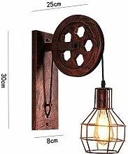 Wandleuchte, Retro Wandlampe Metall Aufhängen