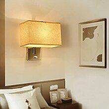 Wandleuchte schlafzimmer, Stoffschirm Wandlampe
