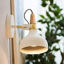 Wandleuchte, schmiedeeiserne Nachttischlampe E14