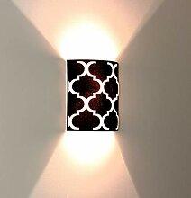 Wandleuchte Schwarz Beleuchtung Ø25,5cm 60er