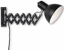 Wandleuchte Schwenkbar Schwarz, Wandlampe mit