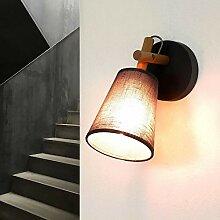 Wandleuchte Skandinavisches Design Grau Holz