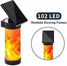Wandleuchte Solar Flamme Fackel Außenleuchte 102