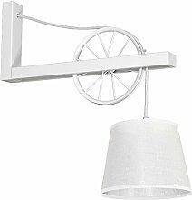 Wandleuchte Vintage Beleuchtung Weiß Metall