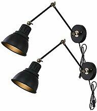 Wandleuchte Vintage Industrial Wandlampe mit