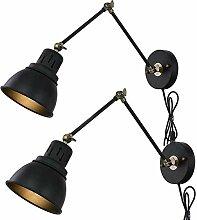 Wandleuchte Vintage Innen Wandlampe mit Schalter