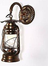 Wandleuchte Vintage Metall Wandlampe Antik