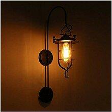 Wandleuchte Vintage Schmiedeeisen Wandlampe,