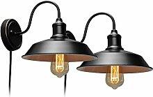 Wandleuchte Vintage Wandlampe Nachttischlampe mit