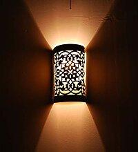 Wandleuchte Wandlampe aus Bronze Messing und Glas
