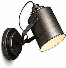 Wandleuchte Wandlampe industrielle schwarze Eisen