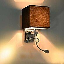 Wandleuchte,Wandleuchte Innen,LED Stoff Wandlampe