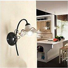 Wandleuchte wandleuchte mit 1 licht mit flachbild-schirm aus keramik, wellblech verziert retro-country - h. 32 cm - Ambra