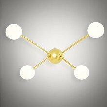 Wandleuchten,American post-modernen Wohnzimmer Glas Wandleuchte kreative Schlafzimmer Bett Wandleuchte Beschaffenheit Studie Dekoration wand Lampe Lampen 48 * 32 cm