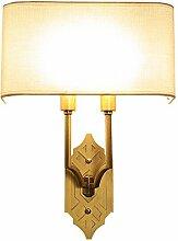 Wandleuchten American - Style European - Style Copper Einfache Wandleuchte Wohnzimmer Restaurant Gang Gang Light Treppe Schlafzimmer Bedside Lampe Wandleuchte Beleuchtung