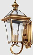 Wandleuchten European-style Lichter Alle Kupfer Wandleuchte Gangleuchte Korridor Lampe Außenleuchte Garten Lampe Nachttischlampe Wandleuchte Beleuchtung