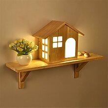 Wandleuchten, Japanische kreative Holz Einfache moderne Wohnzimmer Gang Terrasse Flur Holz- Kinder- Schlafzimmer Bett Dekoration Wand Lampe, 60 * 40 cm.