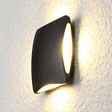 Wandleuchten LED-Wandleuchten schwarz wasserdichte