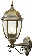 Wandleuchter Außen goldfarbig Glas rustikal IP44 1 - flammig exkl. E27 1x100W 230V