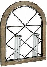 Wandleuchter im Kirchenstil mit 2 Glasvasen