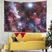 Wandlovers Fantasie Sterne Nebel Raum Wandbehang