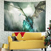 Wandlovers Fantasy Drachen Eisfeuer Wandbehang
