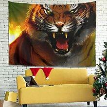 Wandlovers Fantasy Jungle Tiger Mutter und Junge