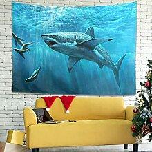 Wandlovers Meereshai Deep Ocean Wandbehang