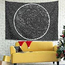 Wandlovers Schwarz Weiß Sternbild Wandbehang