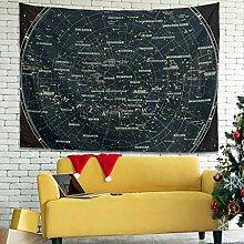 Wandlovers Sterne Sternbild Karte Wandbehang