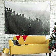 Wandlovers Vintage Nebel Wald Natur Kunst