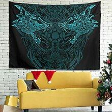 Wandlovers Wikinger Wolf Fenrir Knoten Wandbehang