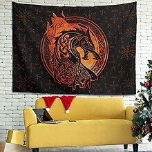 Wandlovers Wikinger Wolf Mythologie Wandbehang