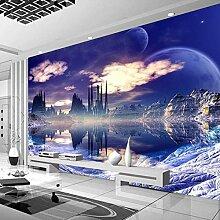Wandmalerei Schloss Im Himmel Hintergrund