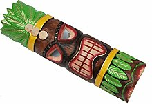 Wandmaske 50cm Tiki Dekoration Holzmaske