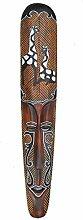 Wandmaske Giraffen 100cm Afrika Dekoration Holzmaske Motivmaske