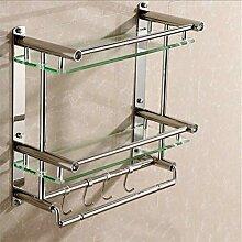 Wandmontage Badezimmer Regale Dusche Glas Regal