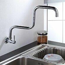 Wandmontage Einhand Ein Loch with Chrom Armatur für die Küche