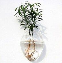 Wandmontage in Herzform Glas Blume Vase Home