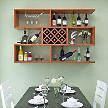 Wandmontage Küche aus Holz Weinregal aus Holz