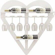 Wandmontage Weinregal Metall Herzförmige