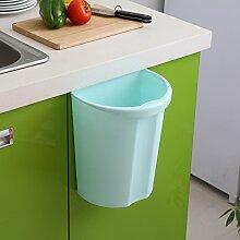 Wandmontierte Küche Mülleimer , blue