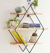 Wandmontiertes Bücherregal Lagerregal Blumenregal