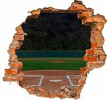 wandmotiv24 3D-Wandsticker Baseball Stadion