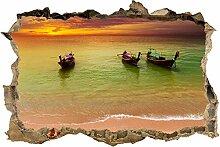 wandmotiv24 3D-Wandsticker Boote in Einer